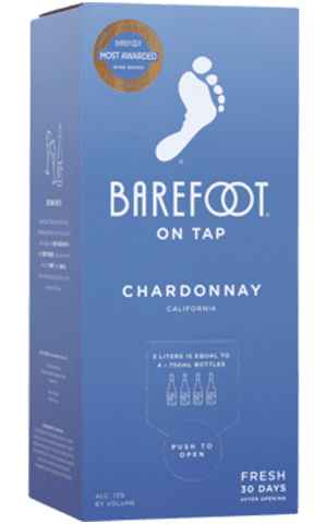 Barefoot Chardonnay 3L BoxNEW PACKAGE